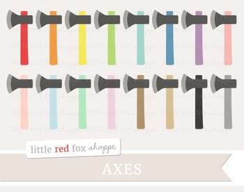 Axe Clipart; Weapon, Hunting, Camping