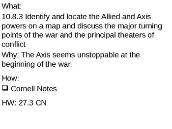 Axis Successes - 27.3 Powerpoint - World War II