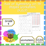 Axis of Symmetry on 2D Shapes Worksheet (4.G.3)