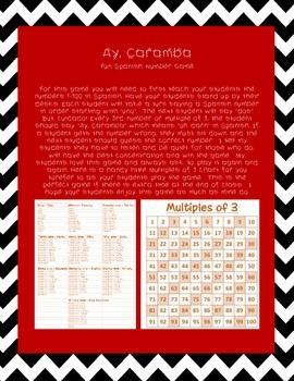 """Ay, Caramba""  Spanish Number Game"