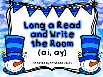 Ay and Ai Read and Write the Room (Winter Theme)