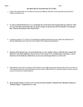 Aya: Life in Yop City Analysis Questions Pages 70-249