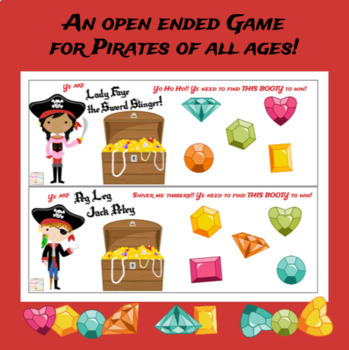 Aye! Me Treasure! {an open ended game for pirates of all ages}