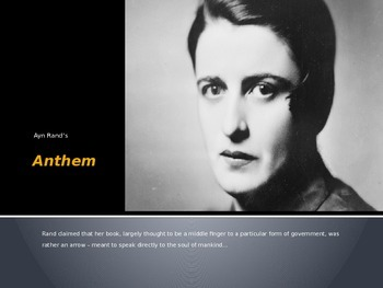 Ayn Rand Anthem Introduction PowerPoint