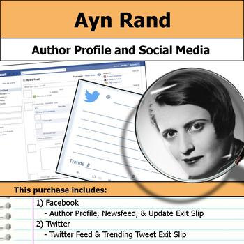 Ayn Rand - Author Study - Profile and Social Media