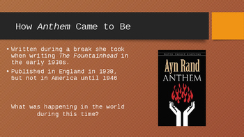 Ayn Rand Introduction for ANTHEM