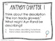 Ayn Rand's Anthem, Chapter 1 Task Cards