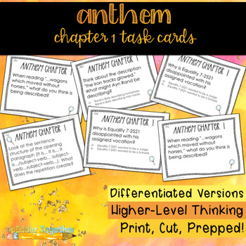 Ayn Rand S Anthem Worksheets Teaching Resources TpT