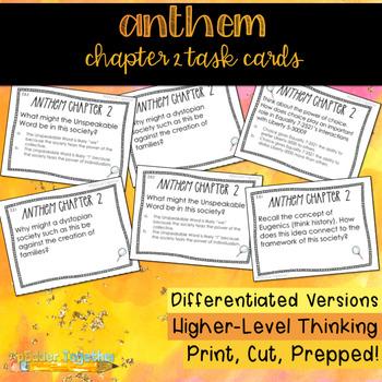 Ayn Rand S Anthem Chapter 2 Task Cards By Spedder Together Tpt