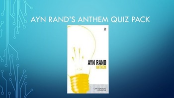 Ayn Rand's Anthem Quiz Pack
