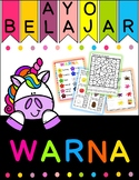 Ayo Belajar Warna - Colour/color in Bahasa Indonesia/Indonesian all in one pack