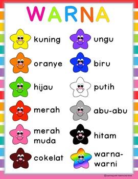 Ayo Belajar Warna - Colour/color in Bahasa Indonesia/Indonesian all in one pack