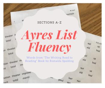Ayres List A-Z Fluency Bundle