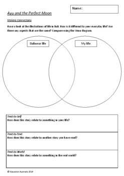 Ayu and the Perfect Moon by David Cox - 6 Worksheets