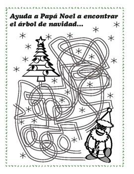 Ayuda a Papá Noel a encontrar el árbol de navidad…
