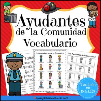 Spanish Community Helpers Los Ayudantes de la comunidad