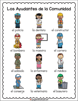 Image result for community helpers spanish