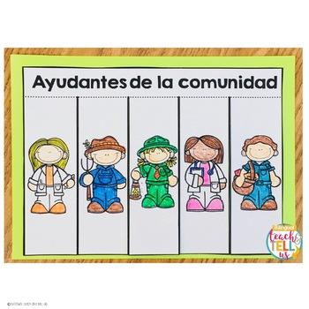 Ayudantes de la comunidad - Community Helpers in Spanish