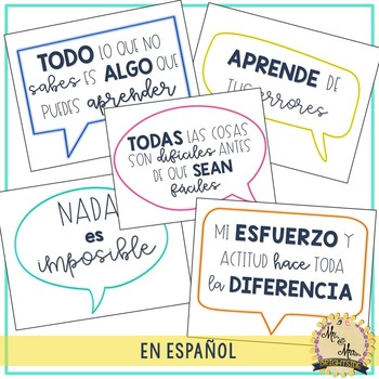 Frases de motivación - Motivational posters in Spanish