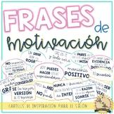 Frases de motivación - Motivational posters in Spanish