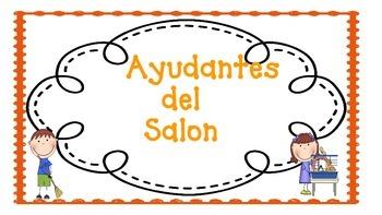 Ayudantes/Helpers Orange Chevron