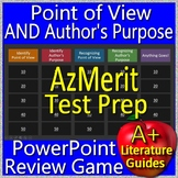 AzMerit Test Prep Point of View AND Author's Purpose Game for ELA Grades 5 - 8