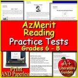 AzMerit Test Prep Practice for Reading Grades 6, 7, + 8 Arizona Google Ready