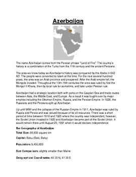 Azerbaijan Worksheet