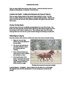Azoturia Fact Sheet