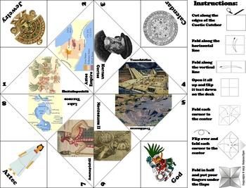 Civilizations of Mesoamerica Activity: Aztec Empire Foldable