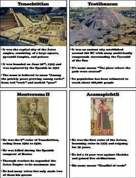 Civilizations of Mesoamerica Project: Aztec Empire Activity/ Foldable