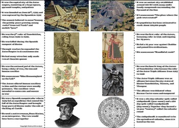 Mesoamerica Civilizations Unit: Aztec Empire Activity/ Foldable