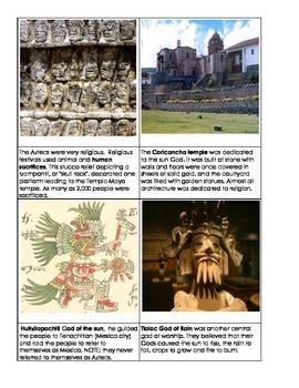 Aztec 3 part cards