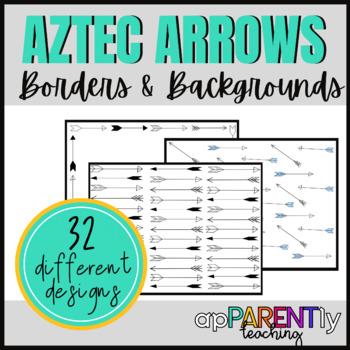 Aztec Arrow Borders and Backgrounds