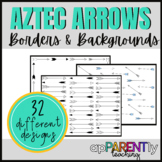 Aztec Arrow Borders and Backgrounds