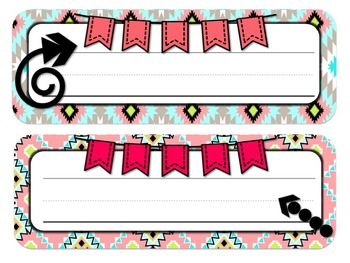 Aztec & Arrows Desk Tags and Name Plates
