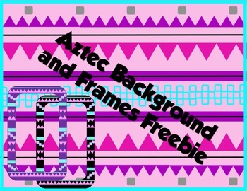 Aztec Background and Frames Clip Art Freebie