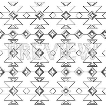 Aztec Backgrounds - Digital Papers