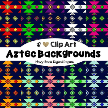 Aztec Backgrounds - Digital Papers