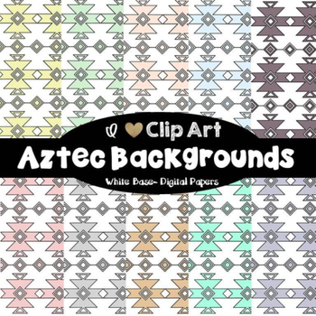 Aztec Backgrounds and Borders Bundle