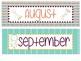 Aztec/Boho Calendar Set