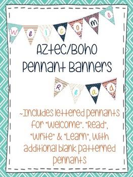 Aztec Boho Pennant Banners