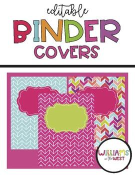 Aztec - Bright Binder Covers {Editable}