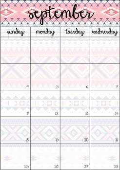 Aztec Calendar 2016 FREEBIE