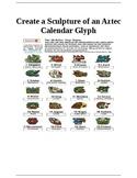 Create Aztec Calendar Glyph Sculpture from Clay
