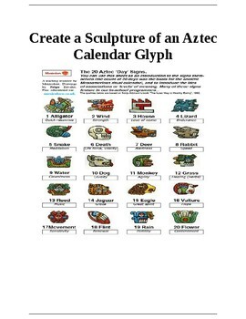 Create Aztec Calendar Glyph Sculpture from Clay