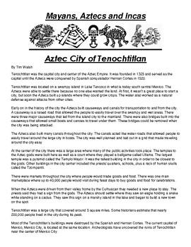 Aztec City of Tenochtitlan
