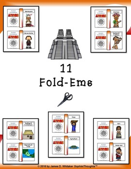 Aztec Civilization Interactive Mini Research Fold-Ems and Activities