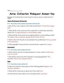 Aztec Civilization Webquest