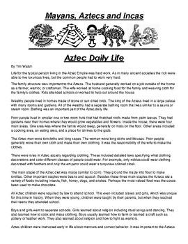 Aztec Daily Life